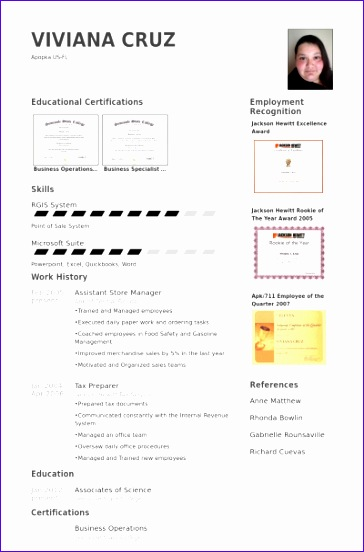assistant store manager cv examples 364552