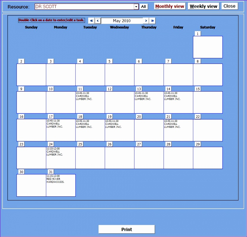 appointment planner with image manager 840805