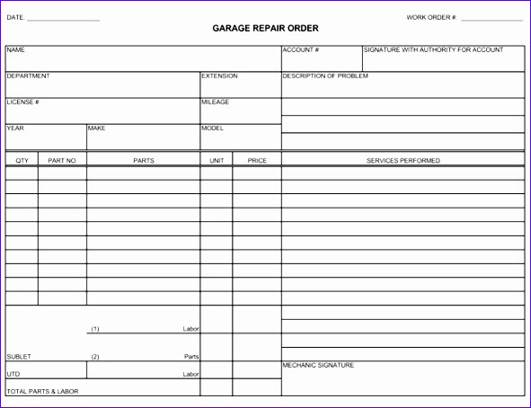 auto repair invoice templates 591454