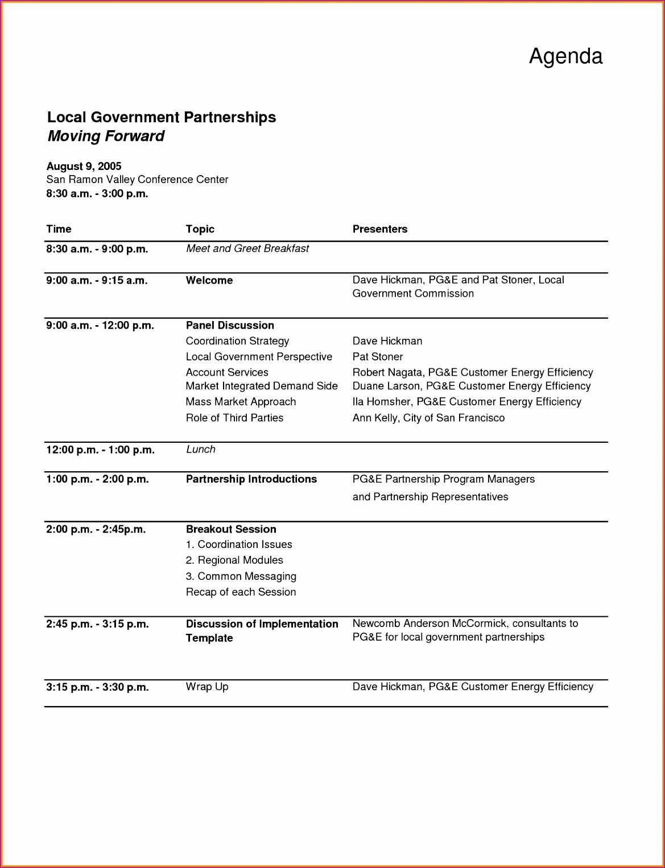 meeting agenda template word 11691527