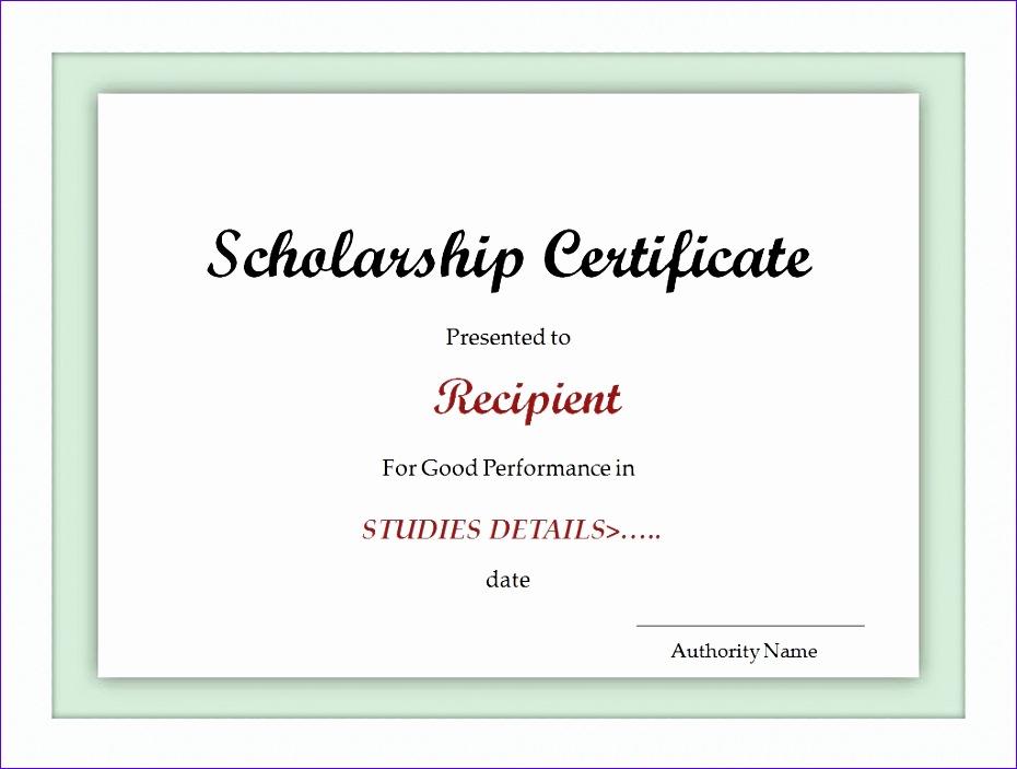 scholarship certificate template 930703