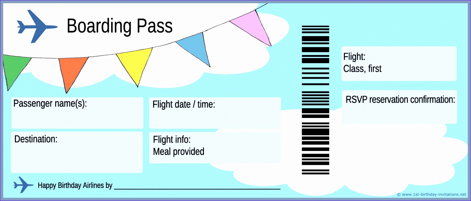 airline ticket template word 1612690