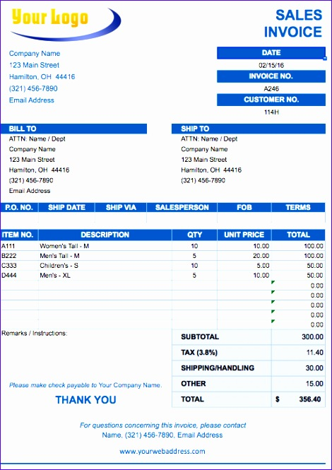 invoice template excel 2010 2370 470665