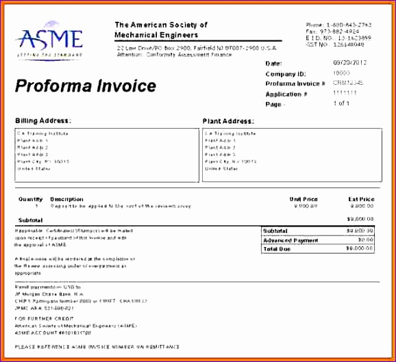 7 pro forma invoice