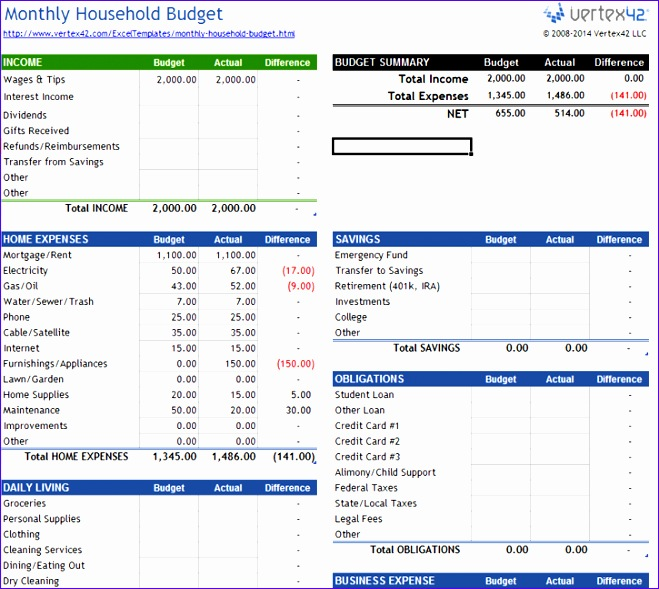 5 free excel spreadsheet templates 659589