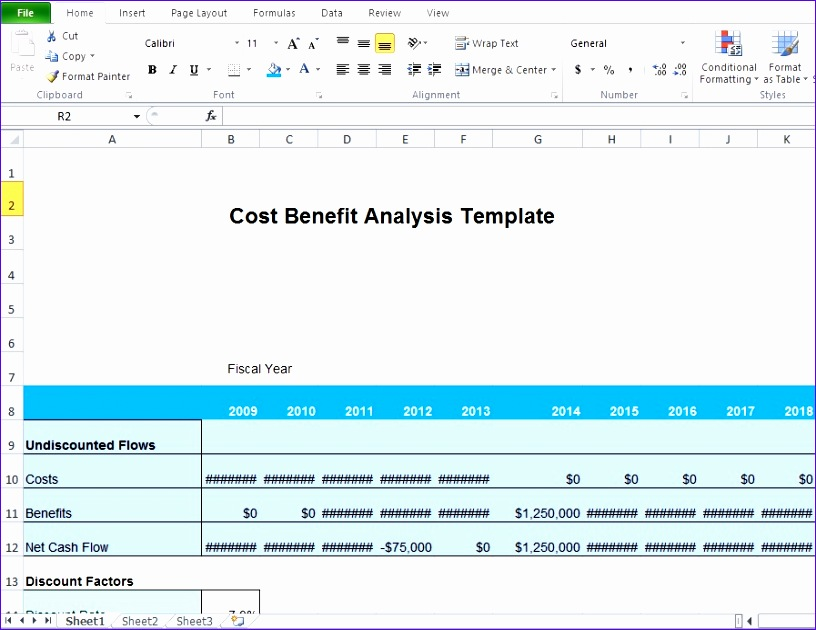 cost benefit analysis template excel microsoft 816630