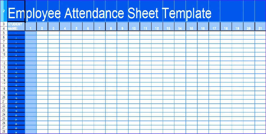 daily attendance sheet template in excel xls 909460
