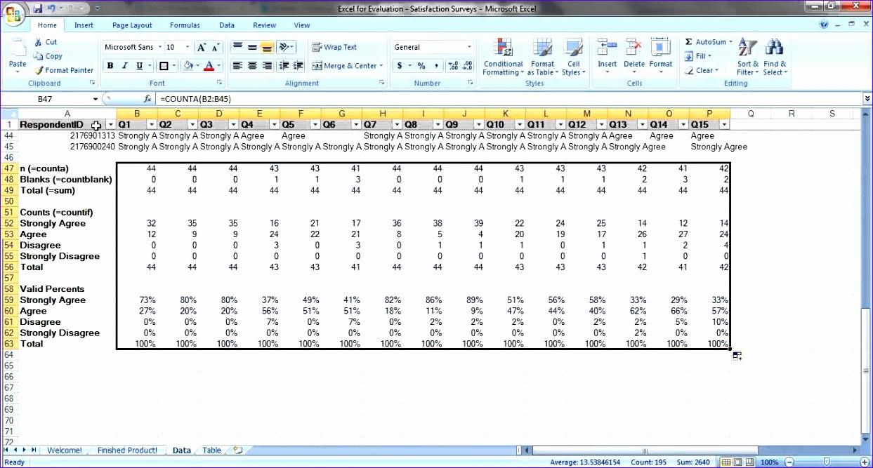 sample excel survey template 1243667