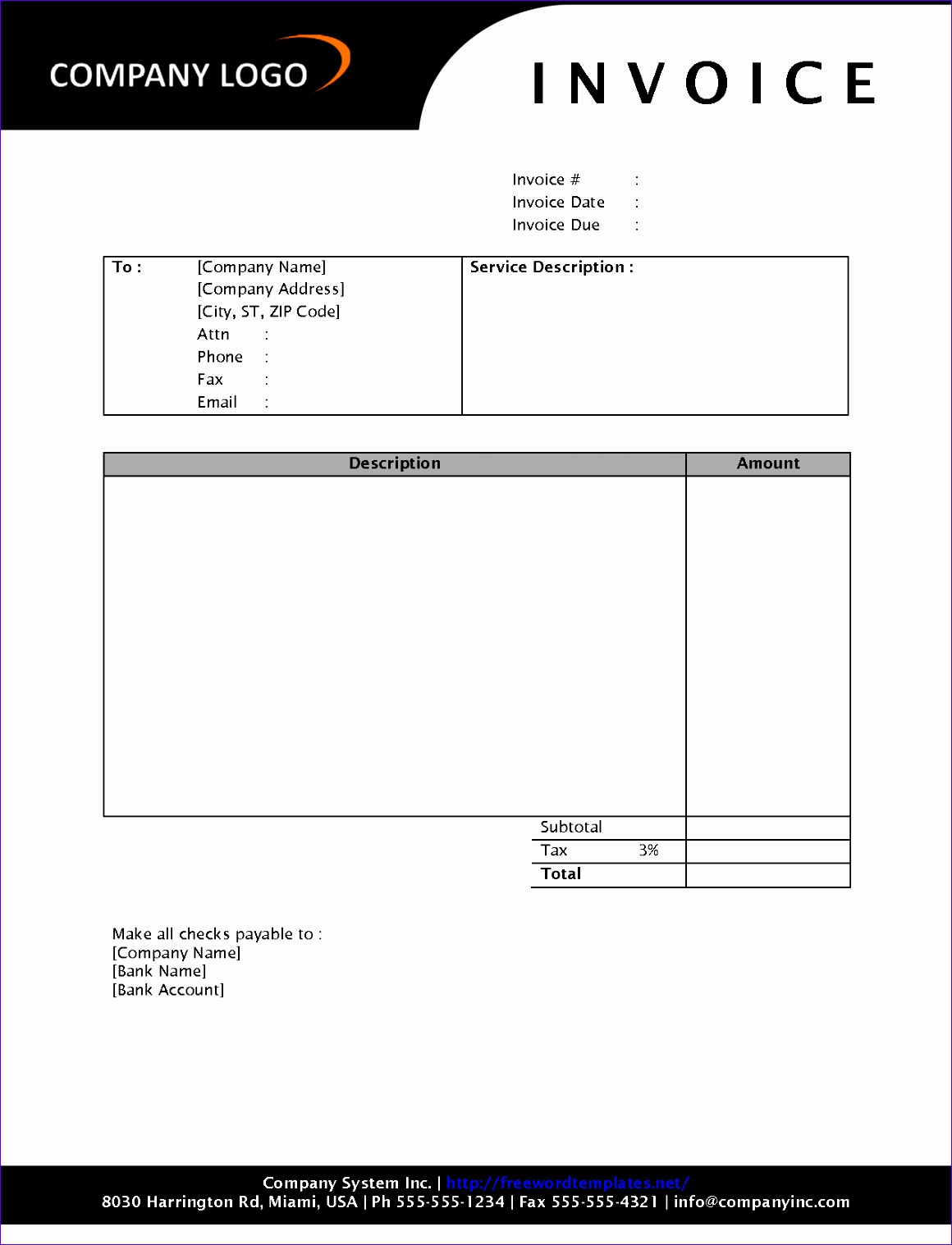 post sample invoice template free