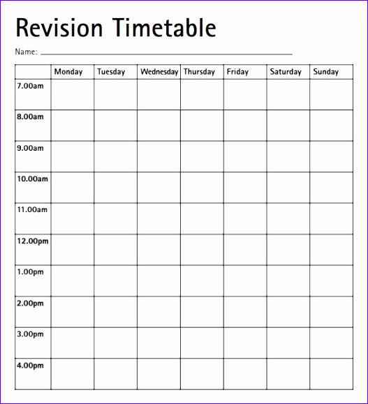 timetable template 2 527579