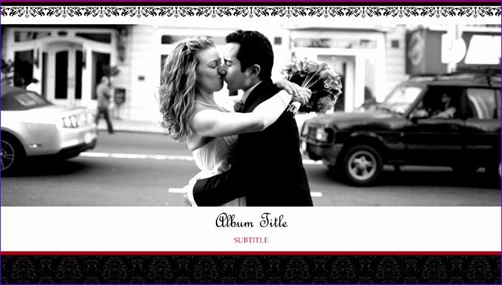 Wedding photo album black and white design widescreen TM 728414