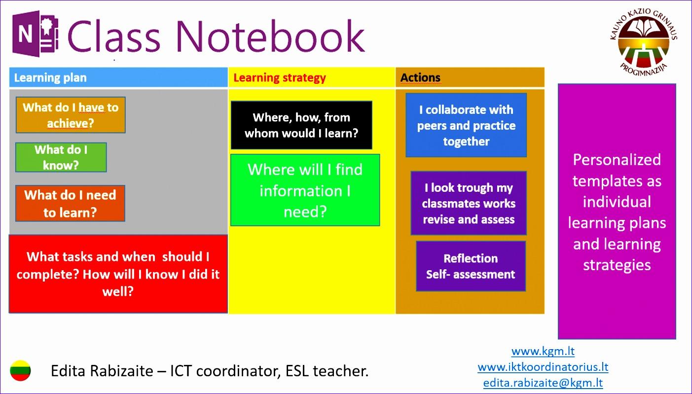 onenote class notebook as an e portfolio 1403799