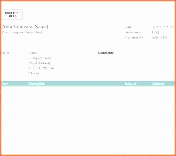 8 blank billing statement 582515