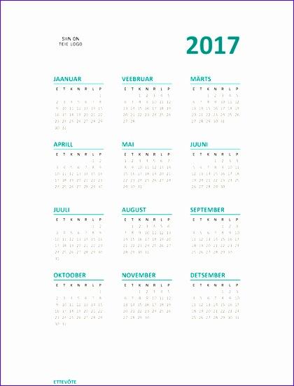 2017 terve aasta kalender E–P TM 420552