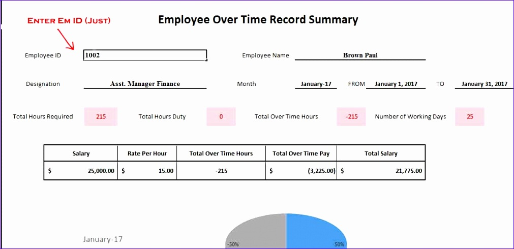 employees timesheet with overtime template excel