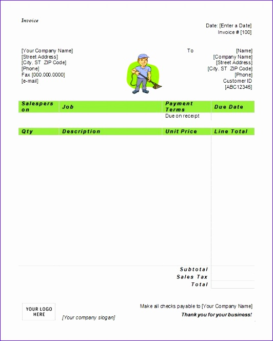 free invoice template for excel 45