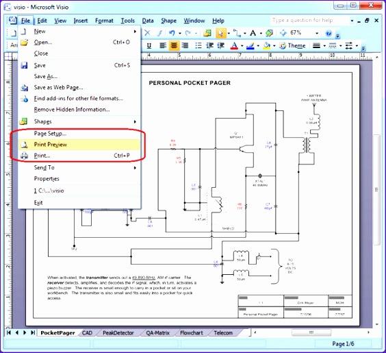 Microsoft Office Excel Template Esqte New Wie Sie Eine Visio Zeichnung Ins Pdf format Umwandeln 620560
