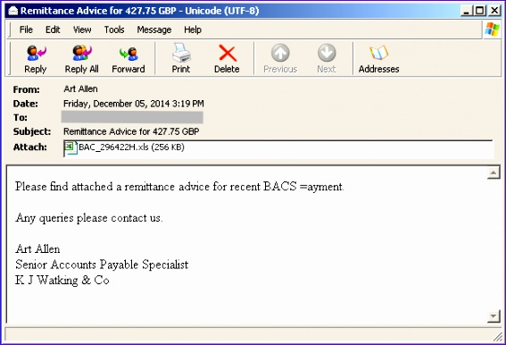 Microsoft Office Excel Template Zqyob Best Of Fake Bacs Remittance Emails Delivers Dridex Malware 624420