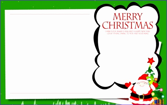 christmas card templates for word