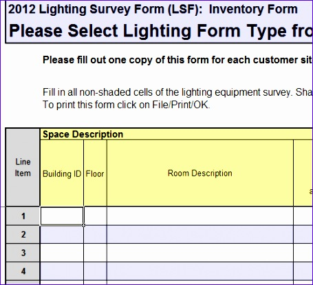 lighting survey example template 455414