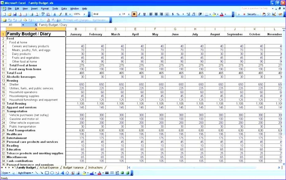 monthly bill spreadsheet template 931588