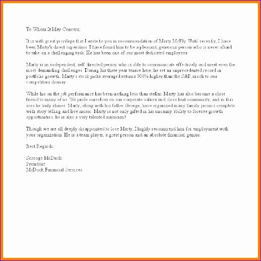 12 letter of re mendation from supervisor 520520