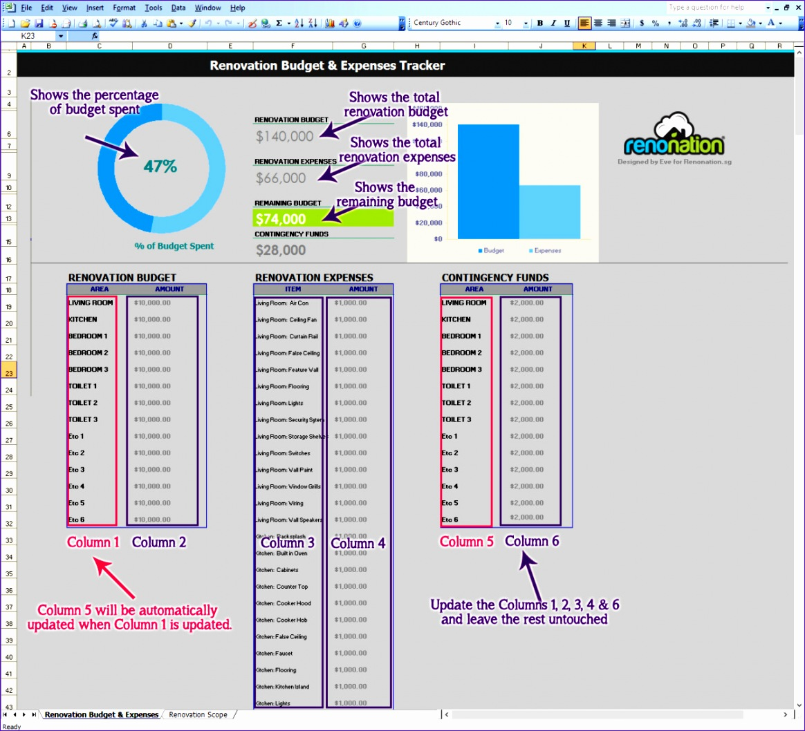 expense excel sheet 11641058