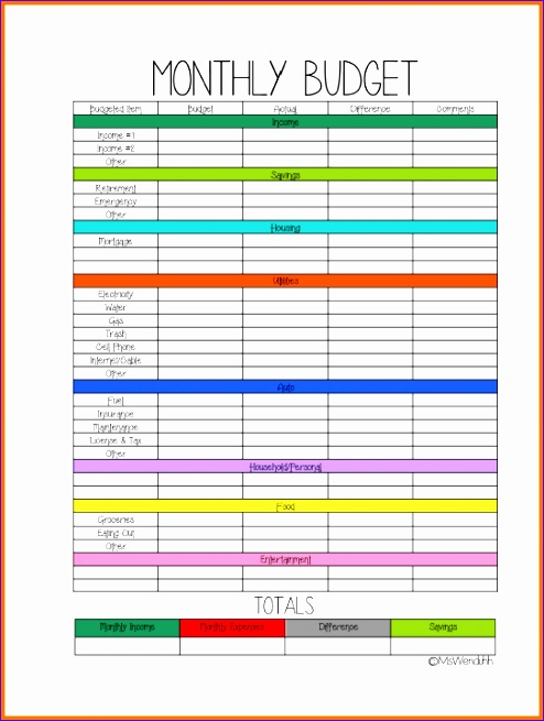 5 bud planner worksheet 494655