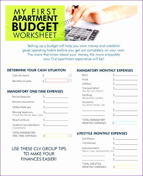 monthly bud worksheet
