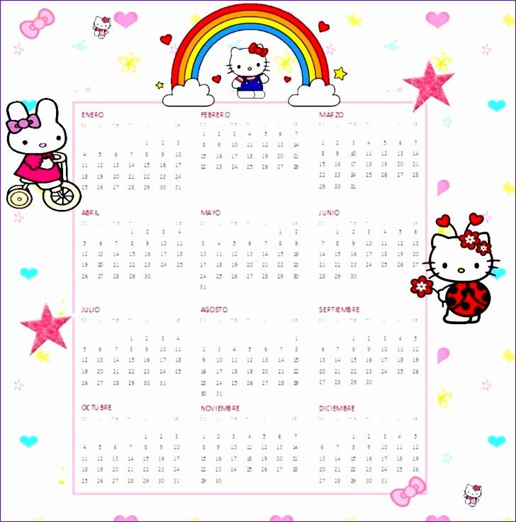 hello kitty printable calendar 2016 728736