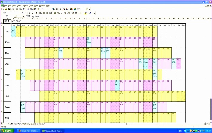 7 Monthly Calendar Schedule Template Excel Exceltemplates