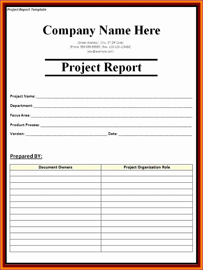 sample management report 698927