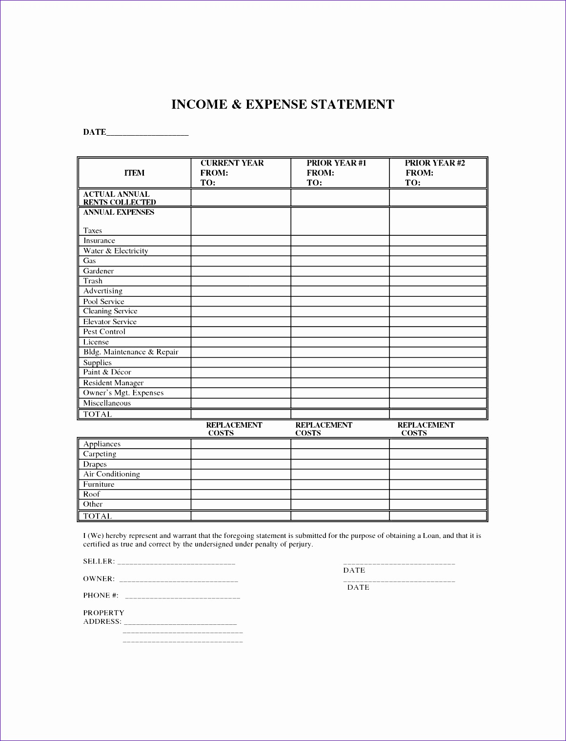 outstanding blank in e and expense statement template and form sample 11601518