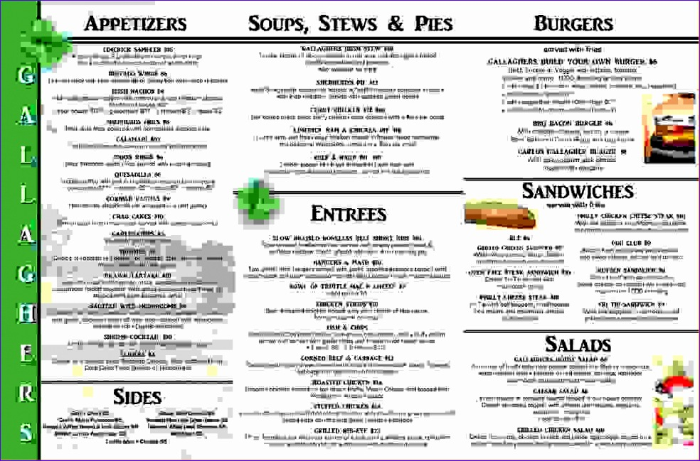 7 tri fold menu template 984649