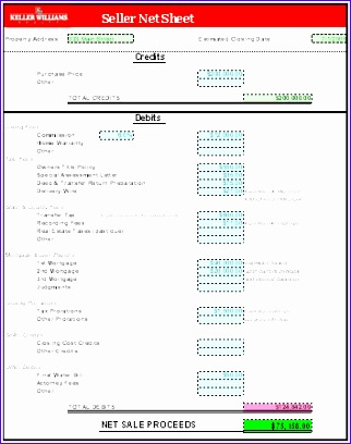 seller net sheet