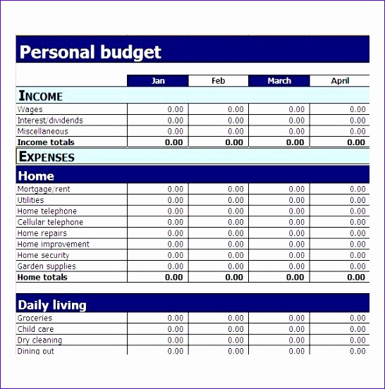 11 ms excel budget template - exceltemplates
