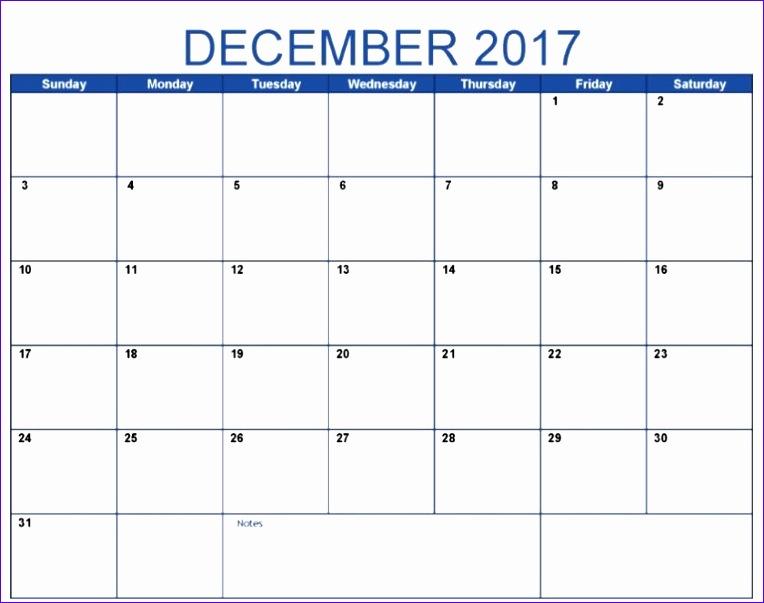 december 2017 calendar a4