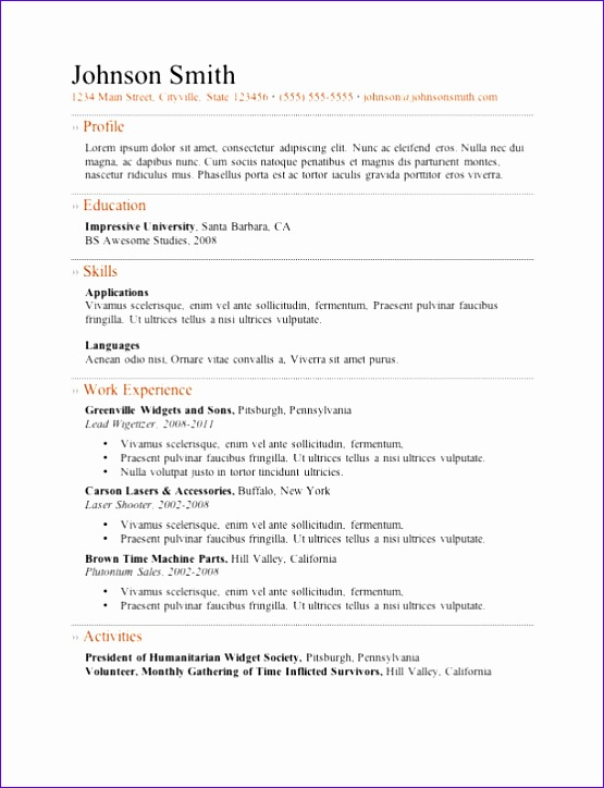 best resume templates cv layout free 555724