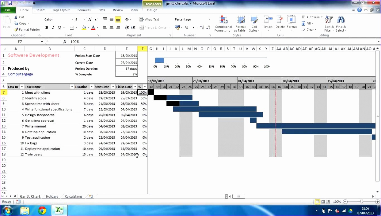 gantt chart template for excel printable chart template microsoft