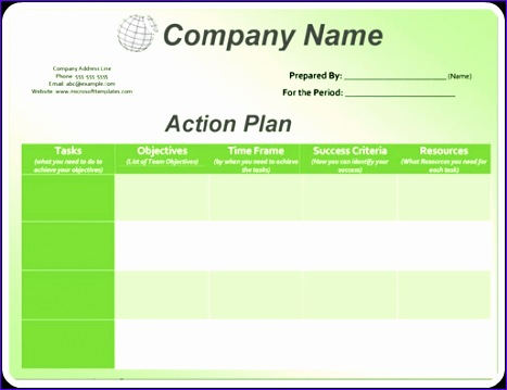 action plan template 467359