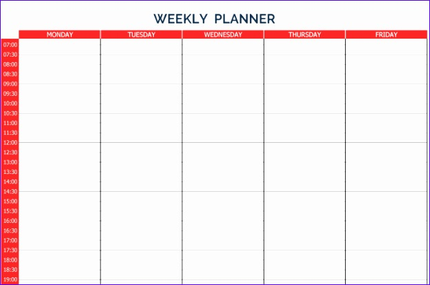 Ms Excel Schedule Template Ehcea Luxury 10 Weekly Planner Templates Word Excel Pdf formats 685449