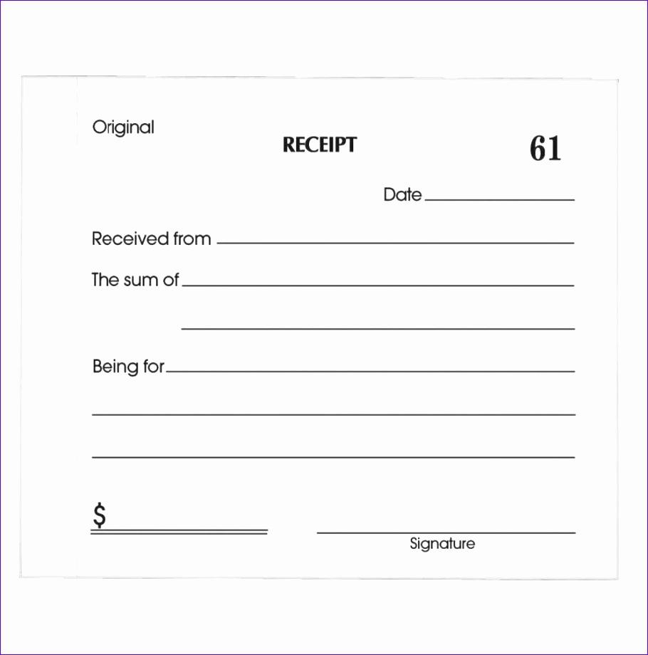 paid receipt template 910920