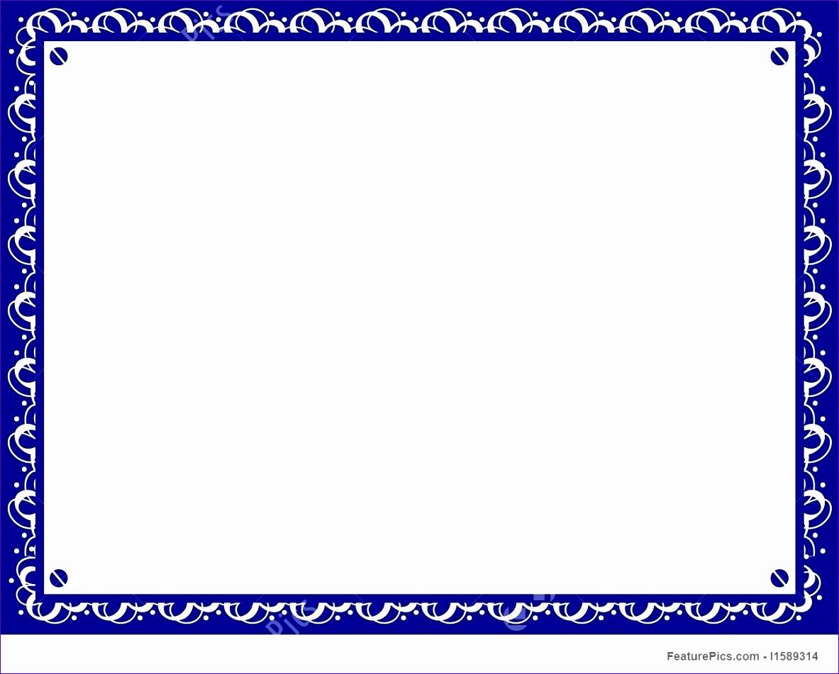 certificate border template blue
