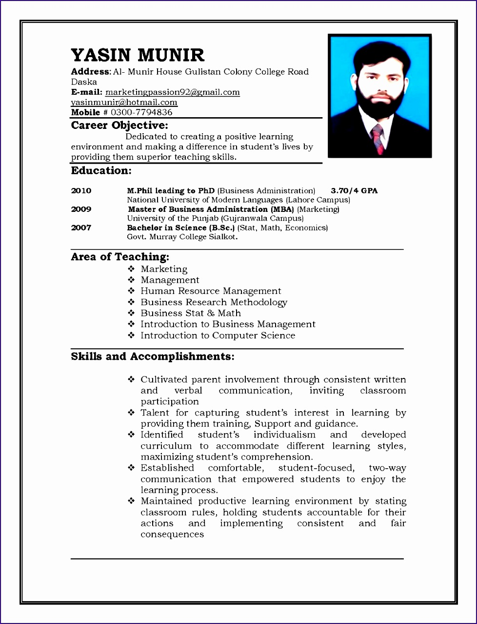 resume format in ms word 2010 9781278