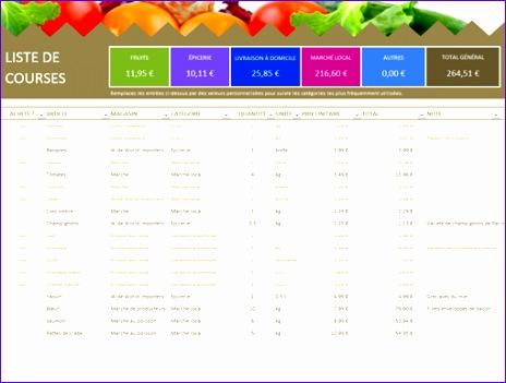 Liste de courses TM 464351