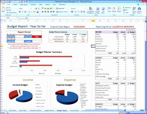 personal finance manager excel template 518403