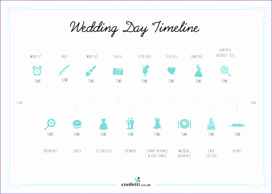 wedding day timeline 931665