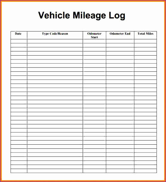 4 mileage log sheet 556609