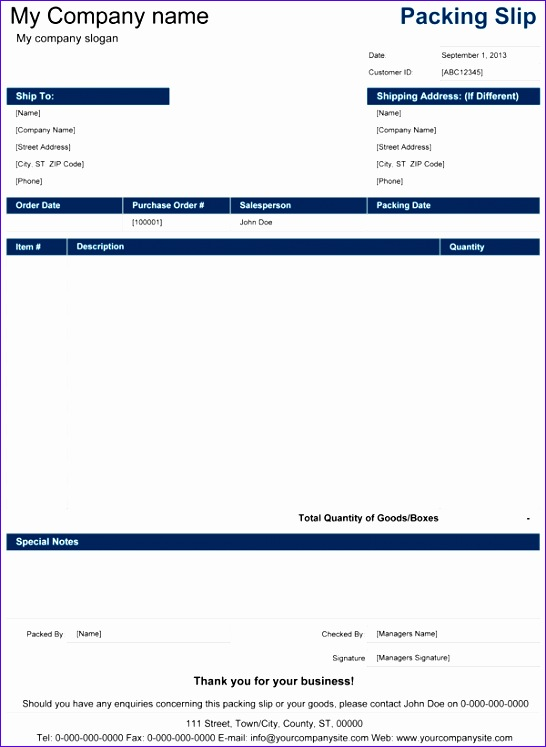 packing slip template 546747