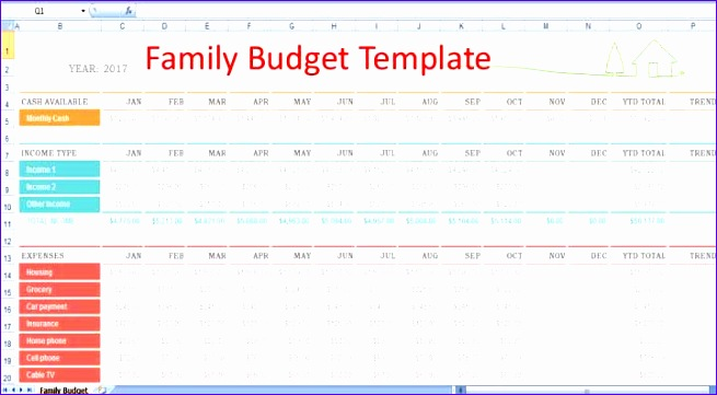 household expense tracker spreadsheet template 655361
